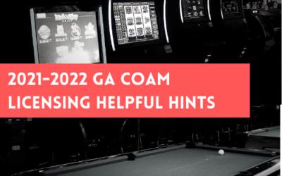 2021-2022 GA COAM Licensing Helpful Hints