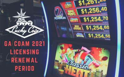 GA COAM 2021 Licensing Renewal Period