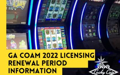 GA COAM 2022 Licensing Renewal Period Information