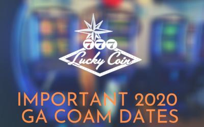Important 2020 GA COAM Dates