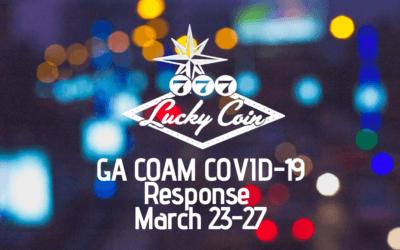 Lucky Coin GA COAM COVID-19 Response, March 23-27