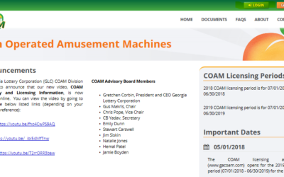 Updating Information for Business Contacts on COAM Website